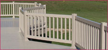 VINYL DECK WITH RAILINGS